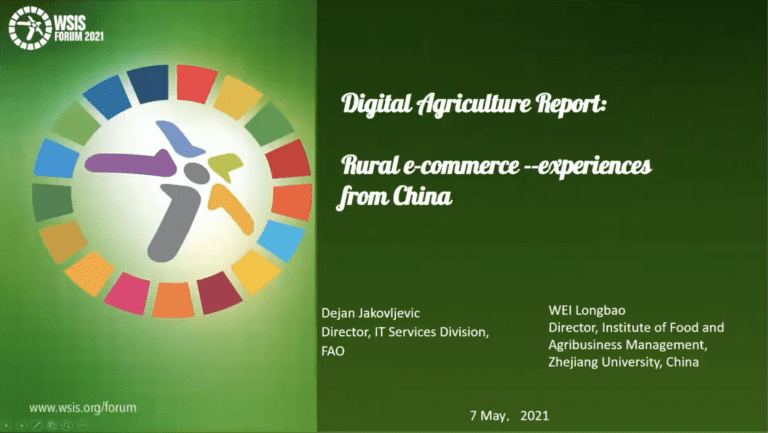 ZJU and FAO present Digital Agriculture Report at WSIS Forum