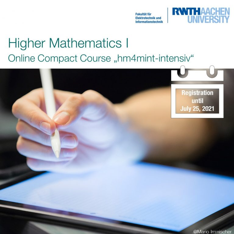 RWTH offers online intensive courses before students start their degree program